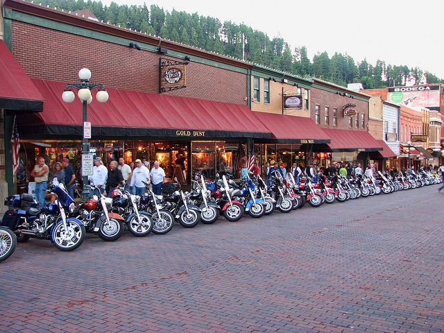 Deadwood S Main Street Fills Up During The Sturgis Motorcycle