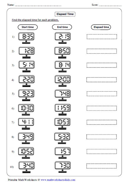 Digital Clocks Worksheet Etamemibawa