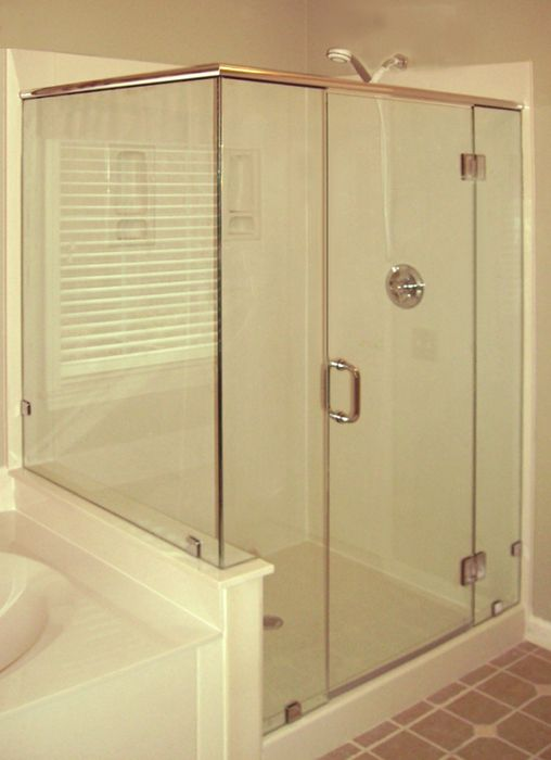 Bathroom Knee Wall glass shower with knee wall - google search | master bathroom