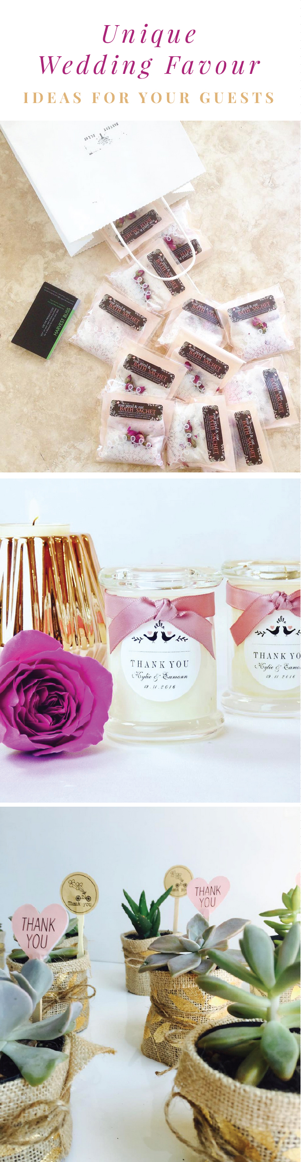 We have searched for some of Australia's best suppliers for your wedding favours! Read the blog to see more!