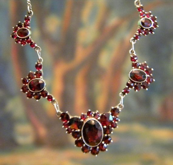 Jewelry Bohemian Garnet Necklace