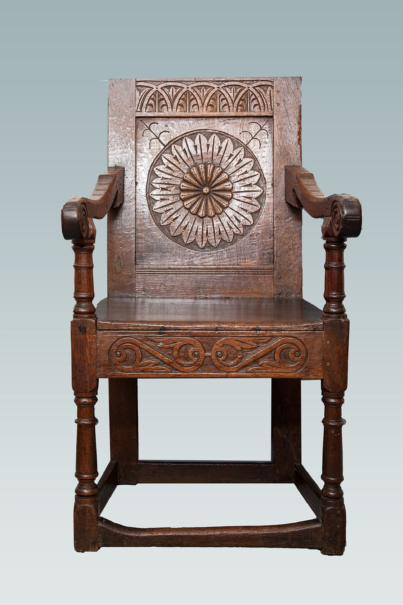 Charles I Oak Carved Armchair Marhamchurch Antiques In