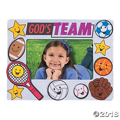 Color Your Own Sports Vbs Picture Frames In 2018 Vbs Pinterest