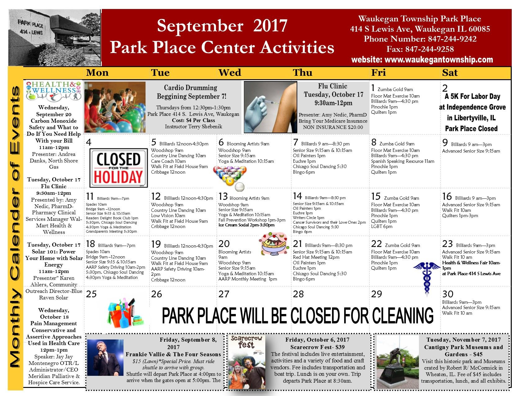 Pin by waukegan township on 2017 park place calendars