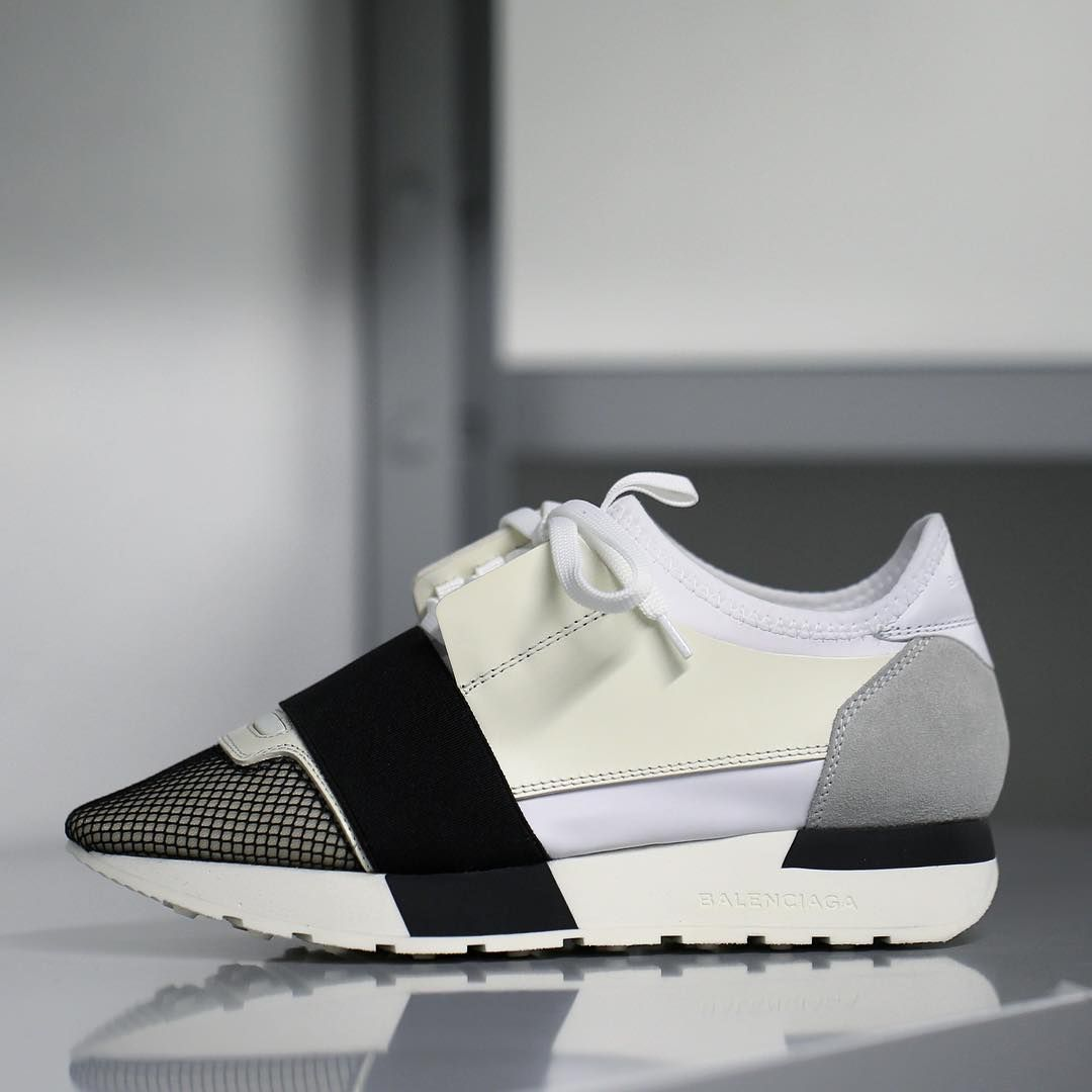 8a3bf85e0ac9 The Race Runner by Balenciaga. Multi-material contrast effect sneakers  available in stores worldwide.  Balenciaga  Race  sneakers »