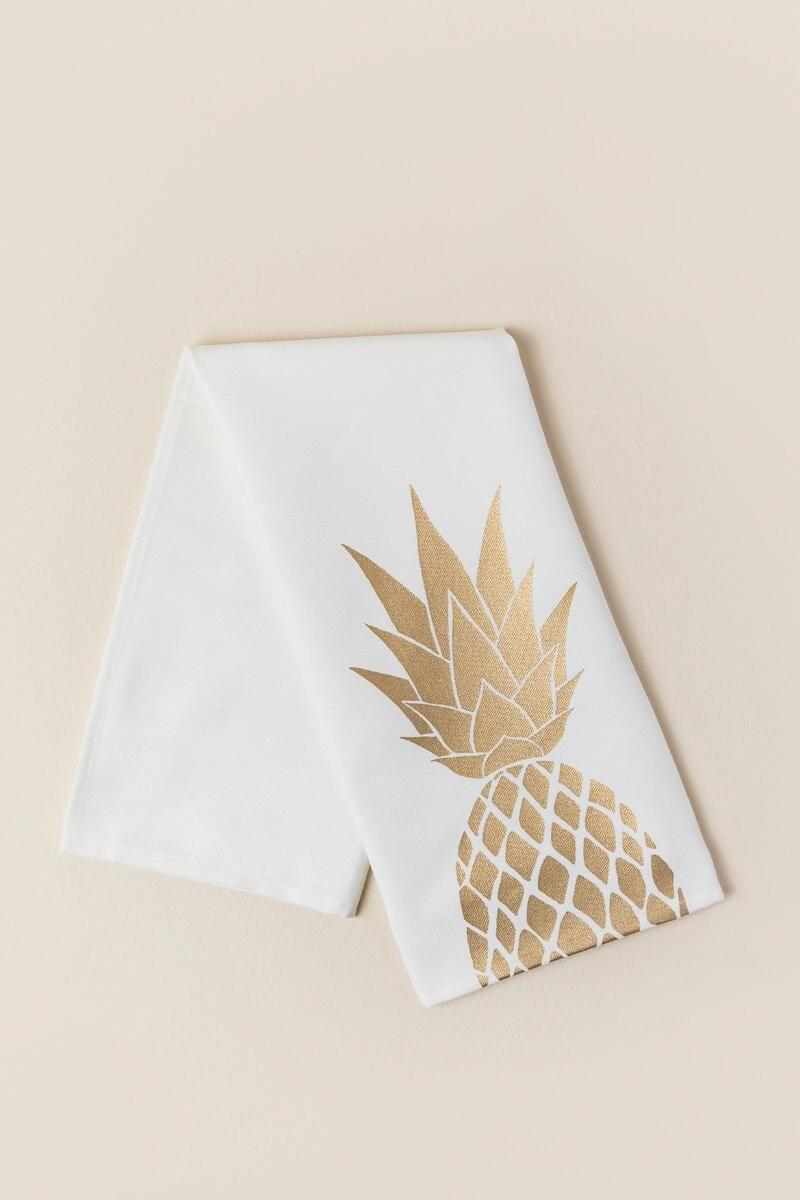 Gold Pineapple Tea Towel | Home Sweet Home | Pinterest | Pineapple ...