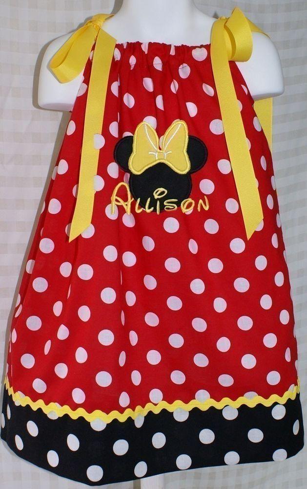 Custom Boutique Minnie Mouse Pillowcase Dress & Custom Boutique Minnie Mouse Pillowcase Dress   Mice Diy dress ... pillowsntoast.com