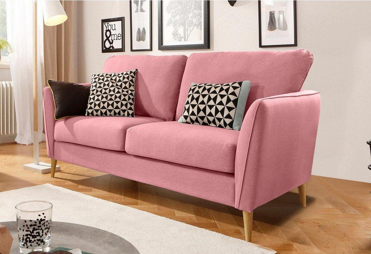 2 Sitzer Marseille In Skandinavischem Stil In 3 Bezugsqualitaten Mit Holz Beinen Home Decor Furniture Home