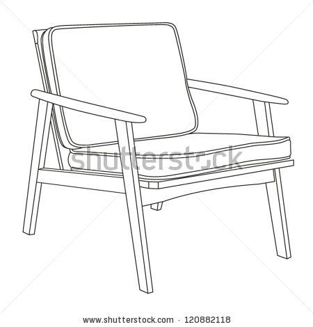 Chair Icon Modern Chair Outline Contour Drawing Vector Illustration Stock Vector Modern Chairs Chair Dining Room Chairs Modern