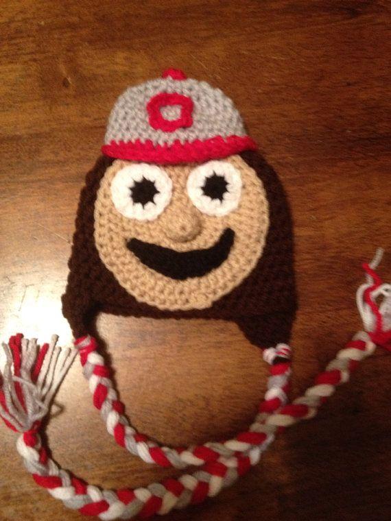 Ohio state buckeyes mascot on Etsy, $15.00 | Crochet | Pinterest