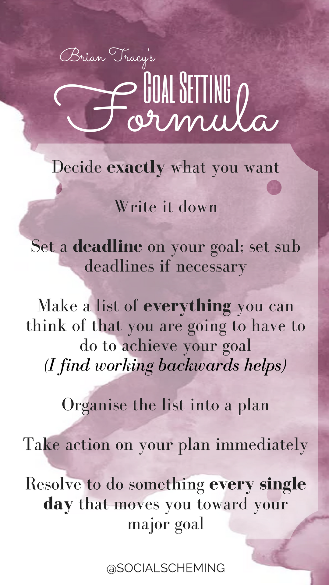 The Simple Goal Setting Formula From Brian Tracy S Book