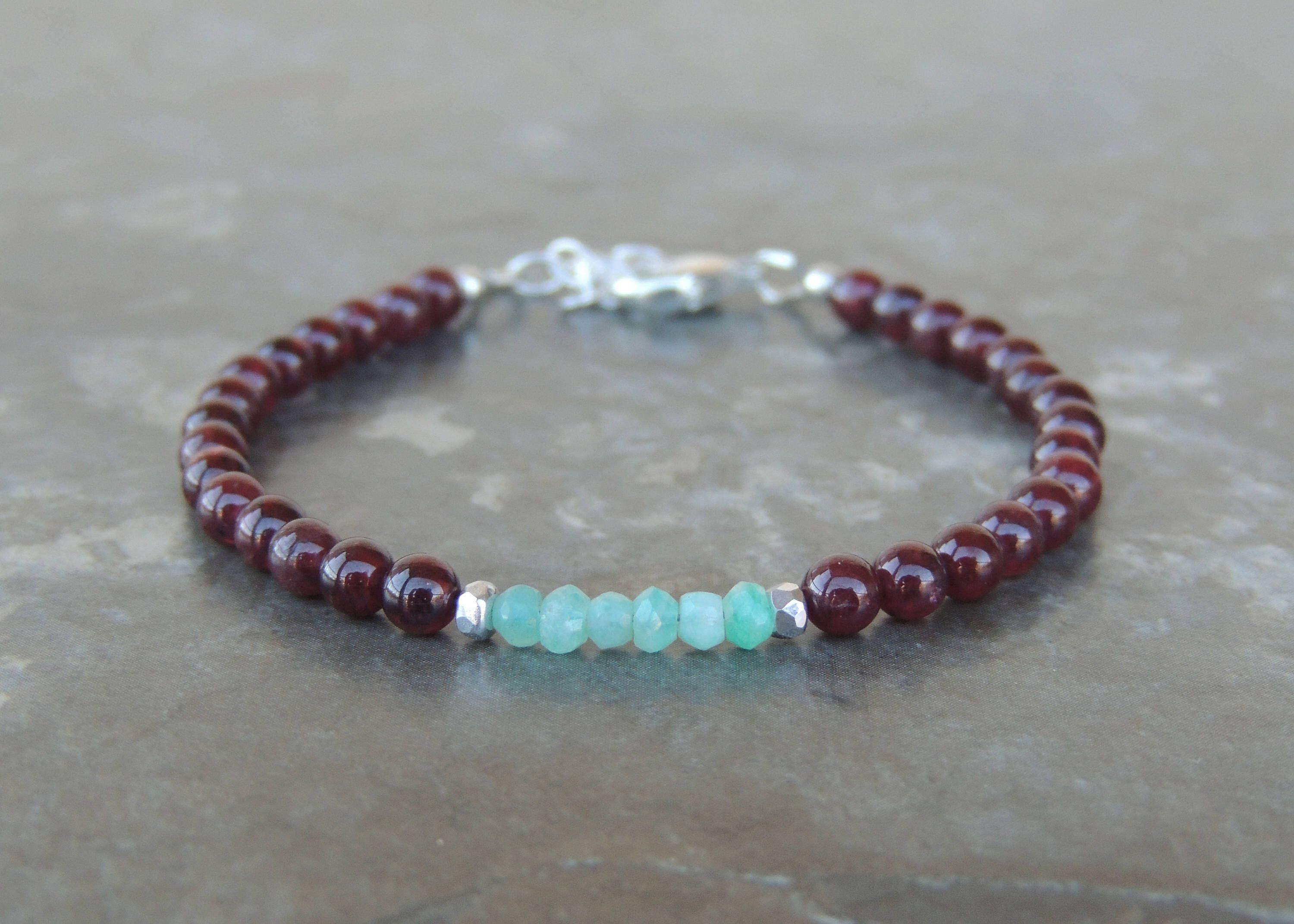 garnet auren birthstone jewellery products bracelet january