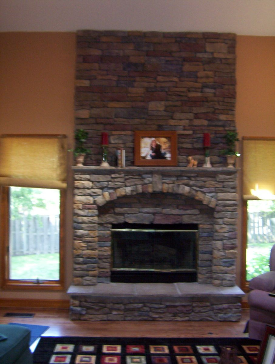 Stone Kansas City Veneer Stone Fireplace Exterior Walls Design
