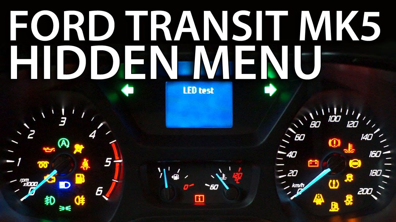 How to enter hidden menu in #Ford #Transit MK5 #service test