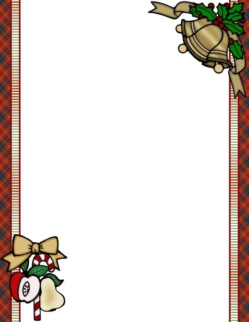 Free Christmas Menu Borders  ChristmasJpg SantaJpg