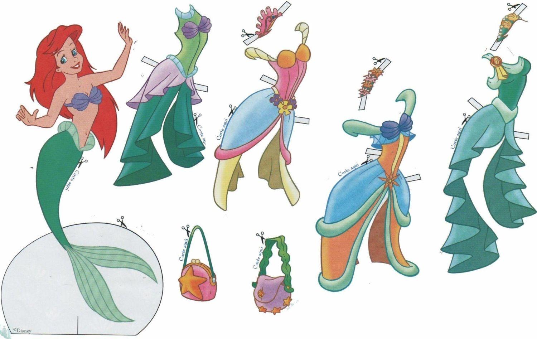 Bonecas De Papel Para Vestir Princesas E Principes Disney