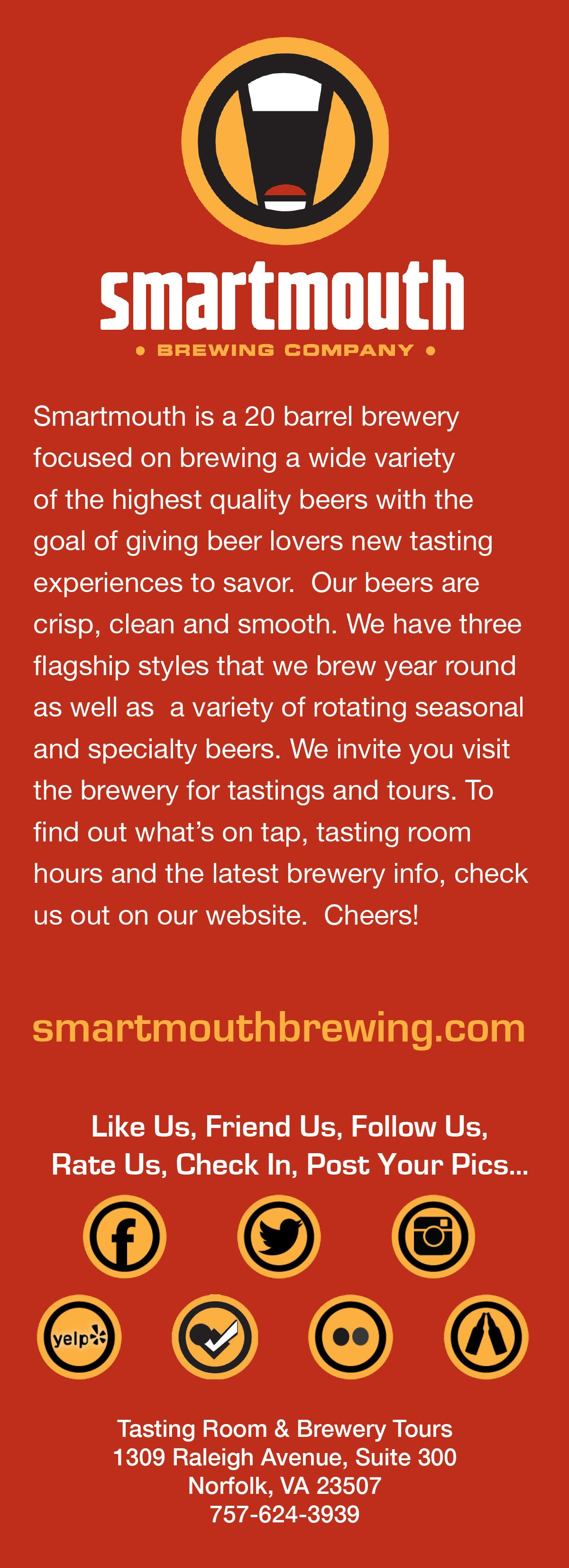 Pin By Crafty Mcbeer On Smartmouth Brewery Brewing Company Beer Lovers
