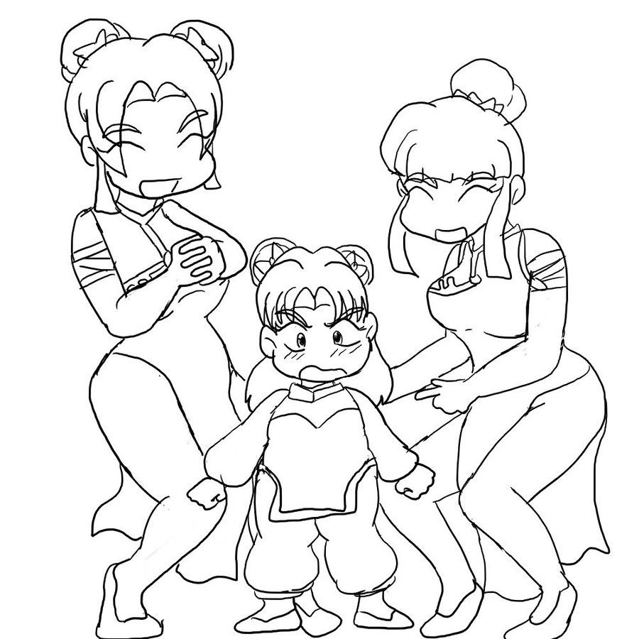 anime sisters coloring pages-#7