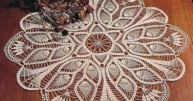 Crochet Art Crochet Tablecloth Pattern Free Pineapple Crochet