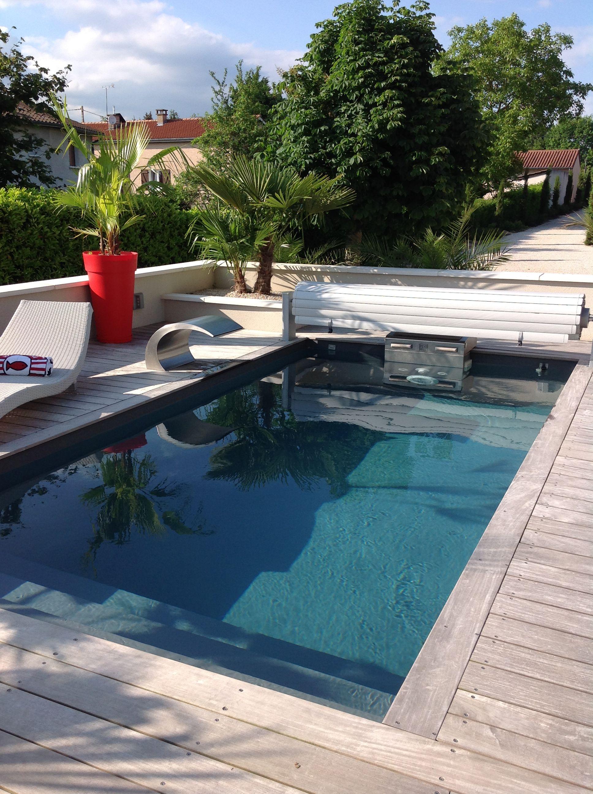 piscine pisicinelle quip e d 39 un bloc technique et d 39 une. Black Bedroom Furniture Sets. Home Design Ideas