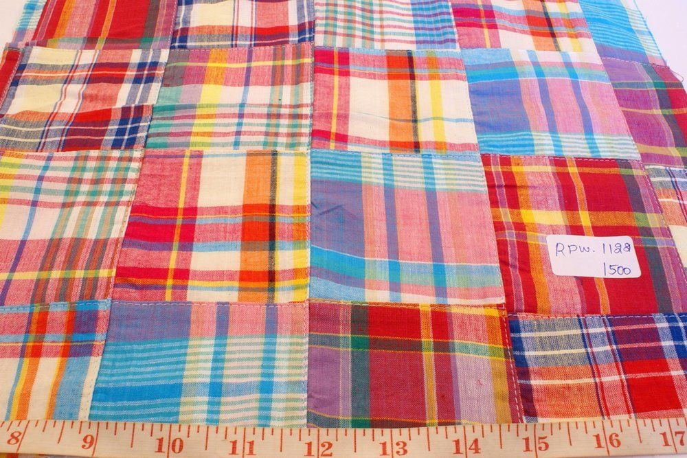 AT-12-13 (Patchwork Madras - Preppy Madras plaid fabric)