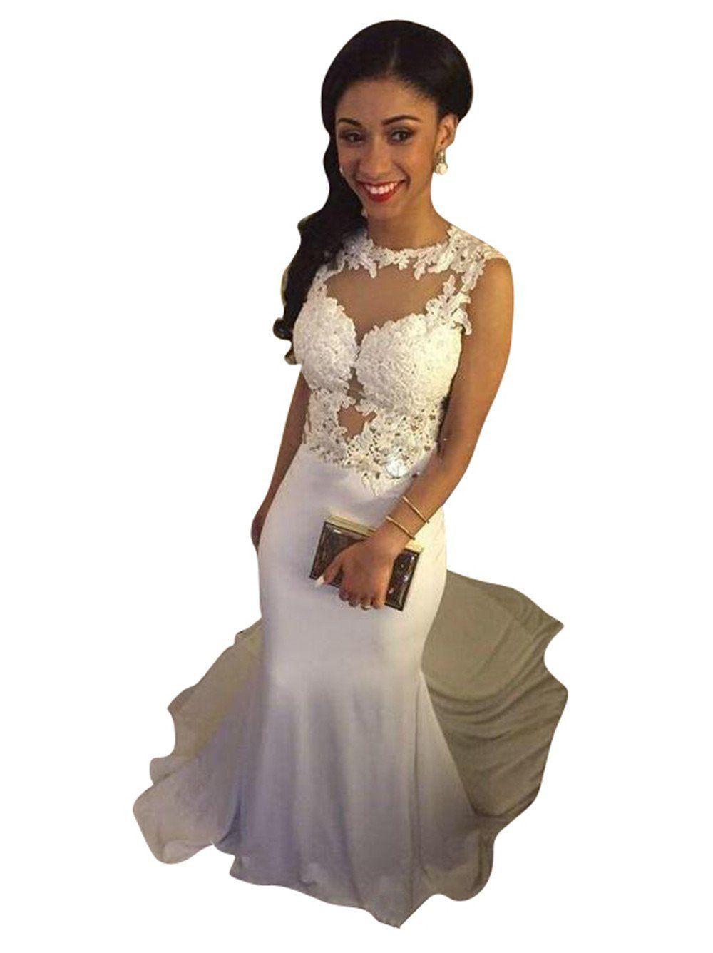 Dressbeautiful womenus lace prom dress meramid formal evening gown