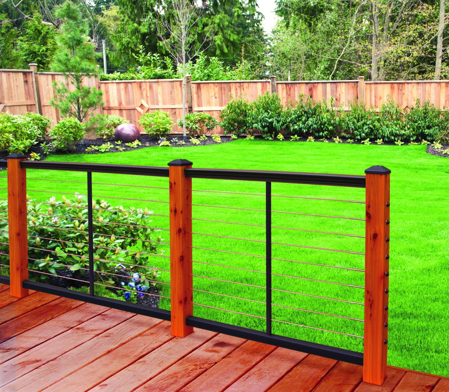 Sleek and simple, this 12'' Aluminum Railing offers clean ...
