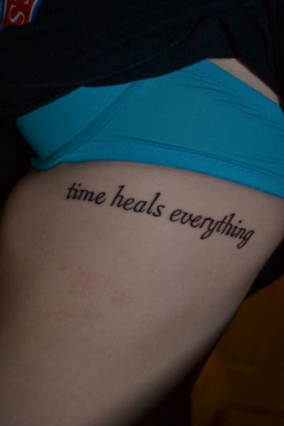 Time heals everything.