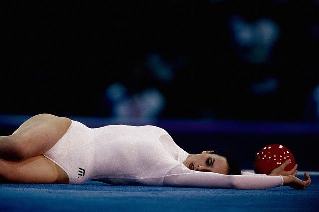 Maria Petrova Bulgaria Is A Three Time 1992 1993 1994 European All Around Champion Gymnastik
