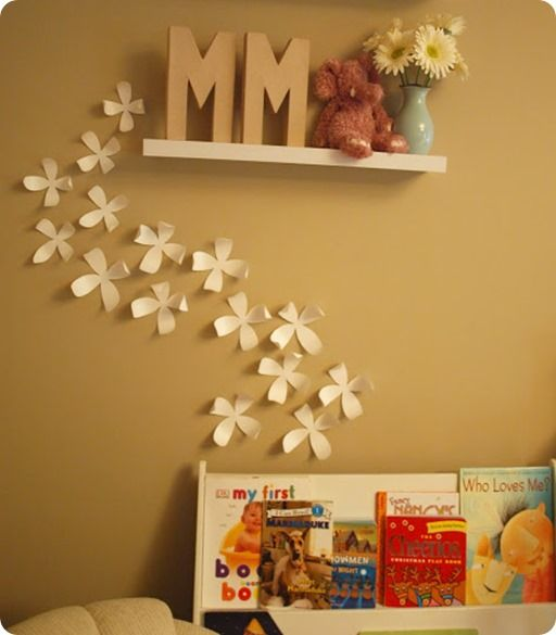 wall flower décor - instead of poster board, I might try making ...