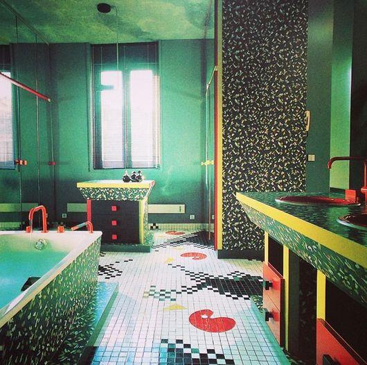 Memphis Bathroom 1980s Design, 1980s Interior, Retro Interior Design, Memphis  Design, Bathroom