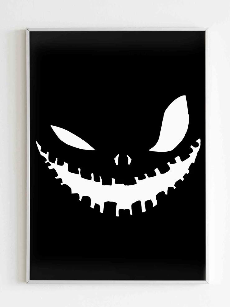 Jack Skellington Pumpkin Stencil Poster Poster Jack