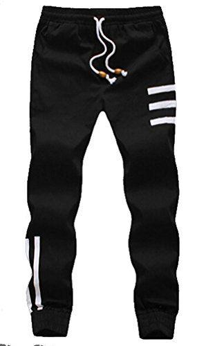 Myncoo Men s Skinny Cotton Jogger Pants Drastring Sweatpants Black ... c60a4fc024
