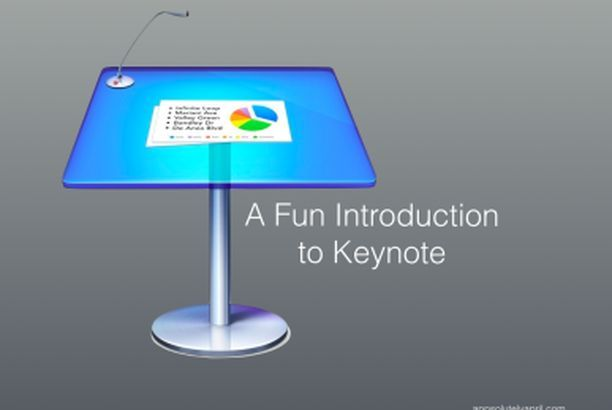 an introductory lesson in keynote for primary students app