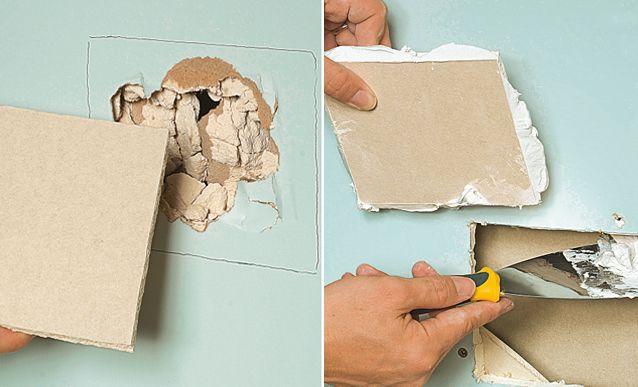 Comment boucher un trou dans du placo? Construction - comment reparer un trou dans une porte