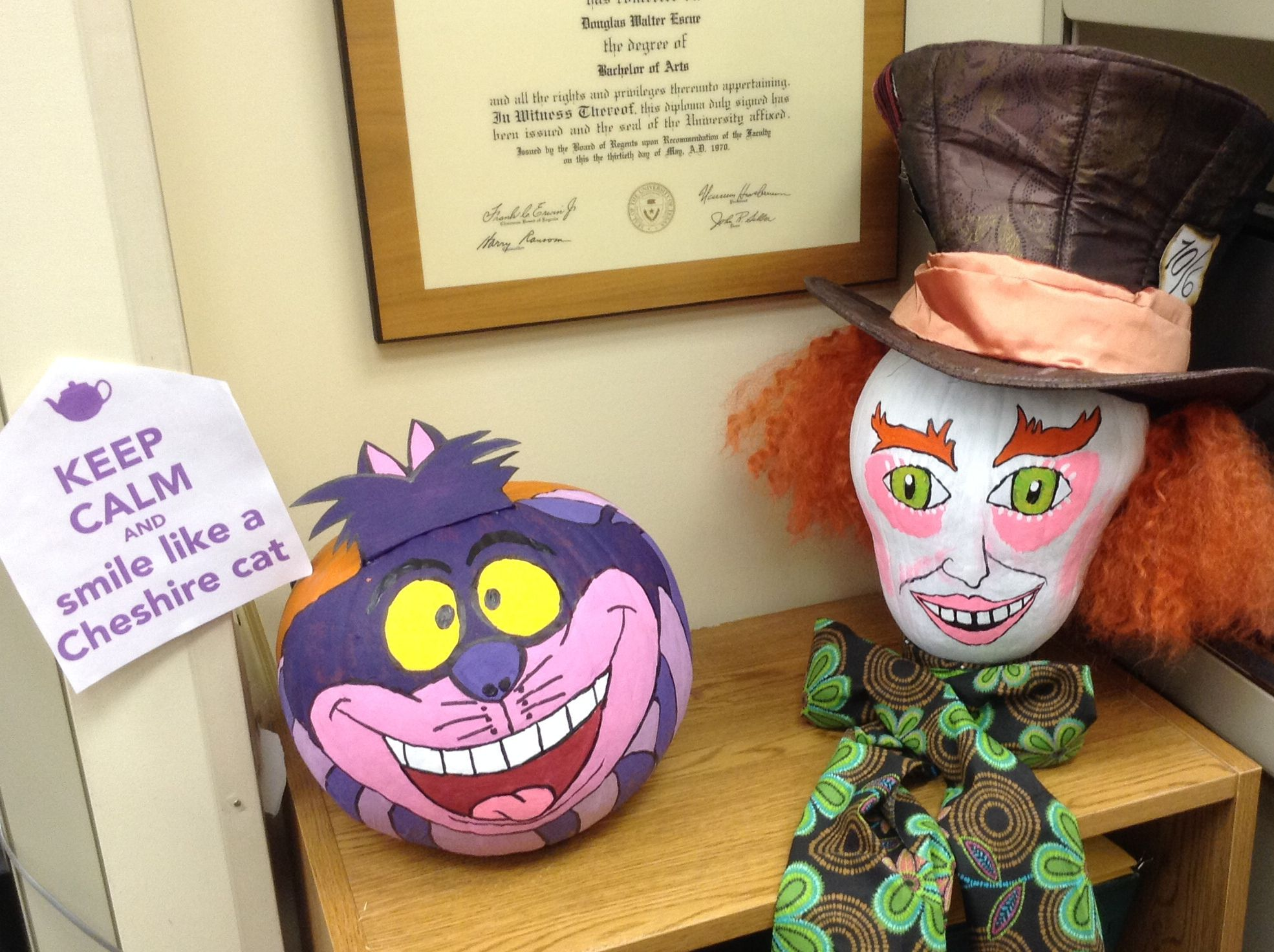 1st annual pumpkin decorating contest alice in wonderland themed