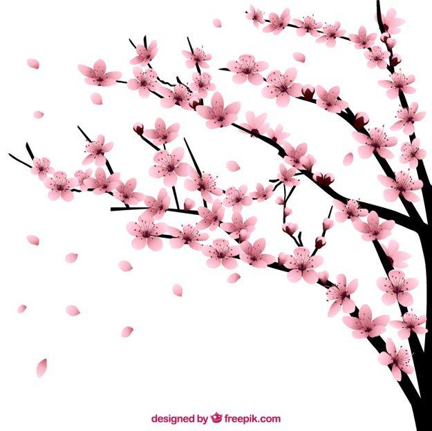 arbol chino rosa dibujo facil  Buscar con Google  tatto