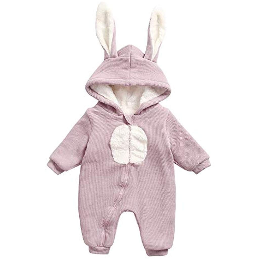 1b8888f52460 Clearance Sales Winter Warm Baby Boys Girls Rabbit 3D Ear Zipper ...