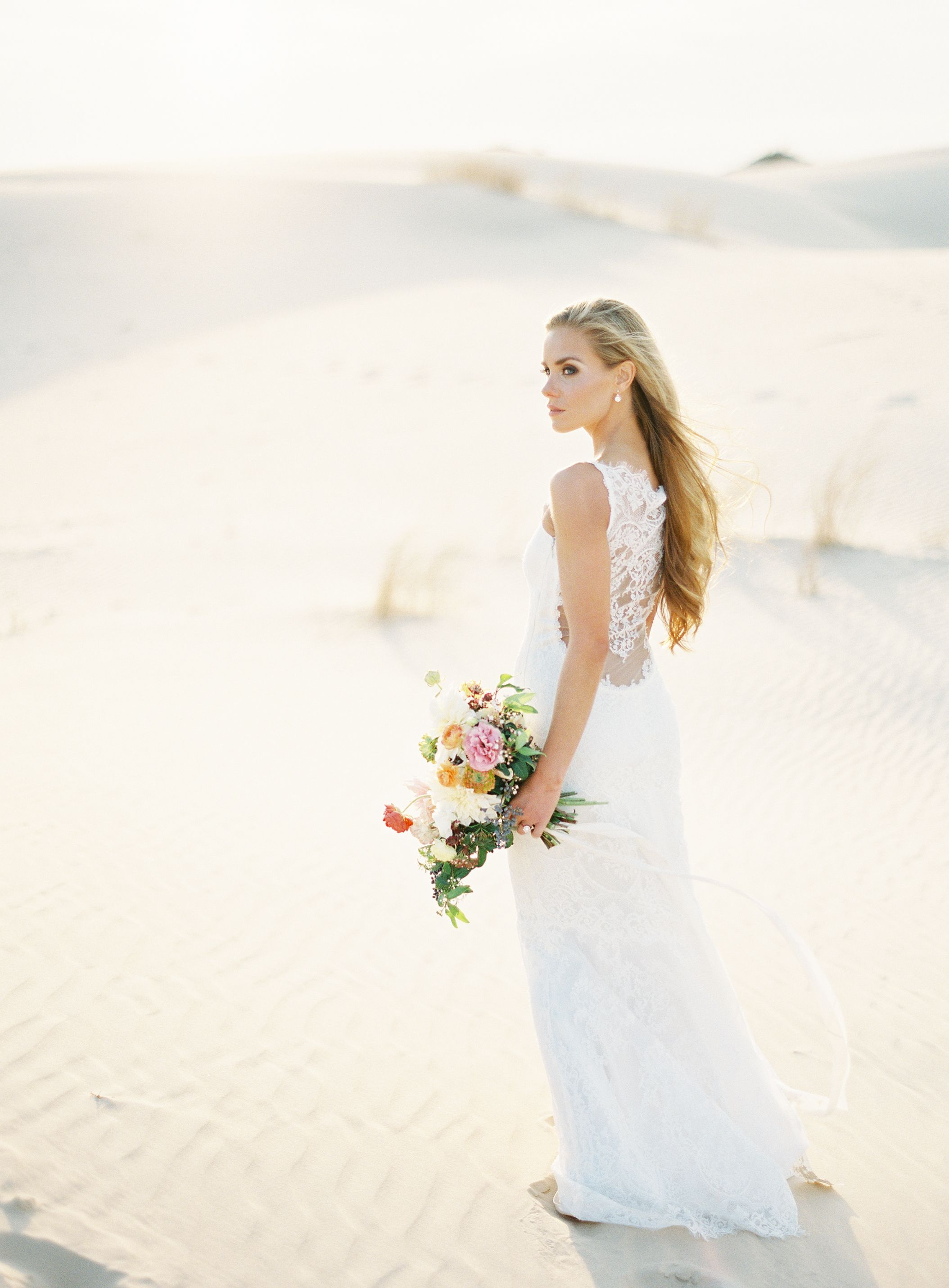 Simple wedding dresses for eloping  Find out what gown is perfect for your dream venue Sunset Desert