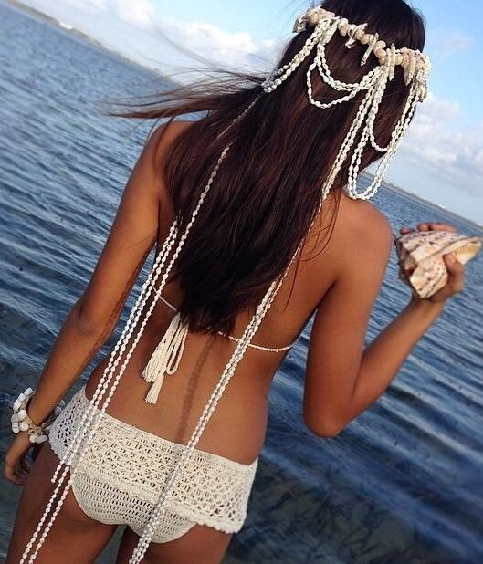 Adore this look - although highly impractical for a little dip!