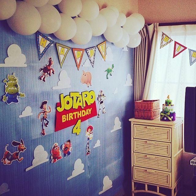 壁 天井 手作り トイストーリー 誕生日飾り付け ウォールデコ などの