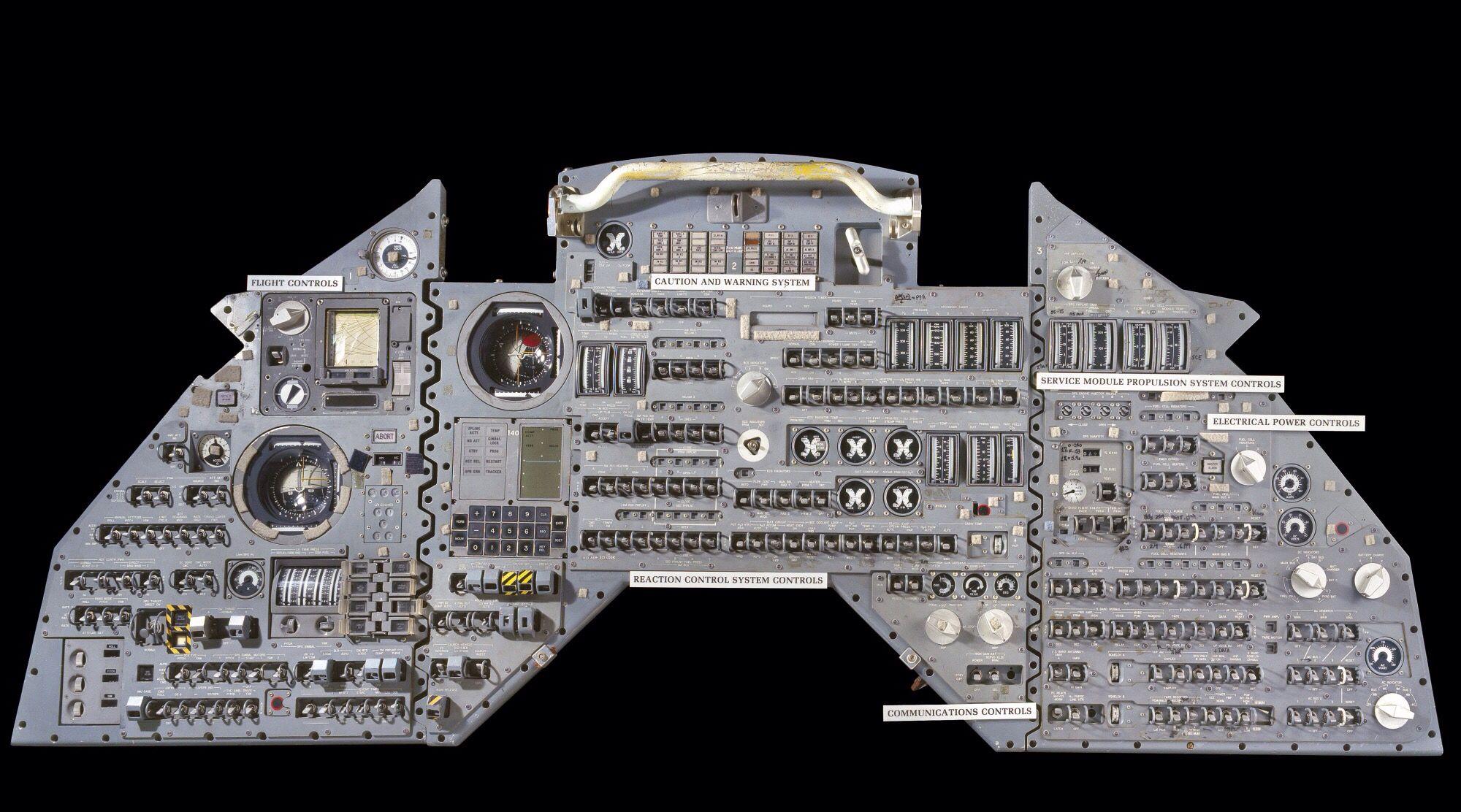 Apollo Csm Control Panel Nasa Space Program Space Travel