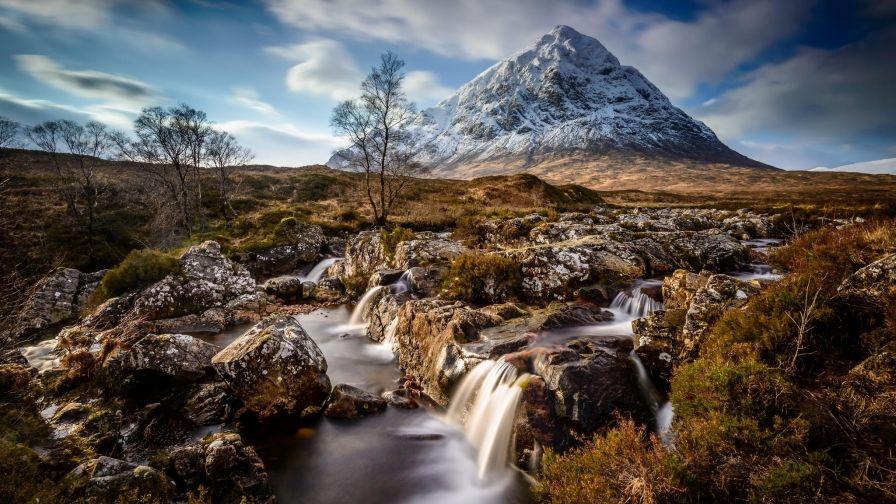 Scotland Mountain Waterfalls Iphone7 Hd Wallpaper Download Nature Wallpaper Mountain Landscape Landscape