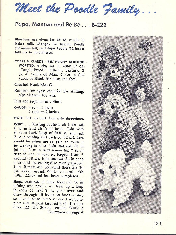 Crochet Poodle Dog Pattern B Crochet Dog Patterns Crochet