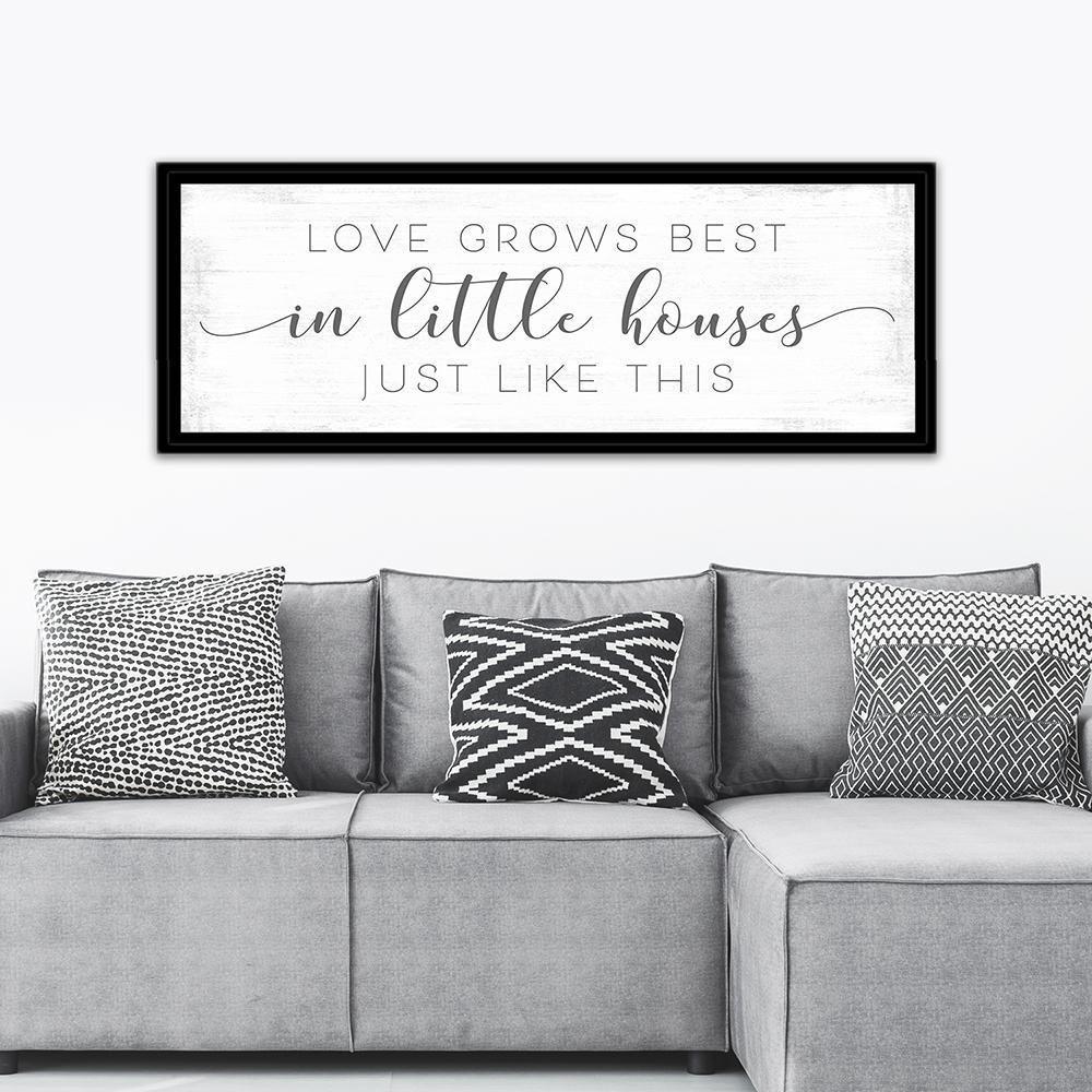 Download Love Grows Best In Little Houses Sign   Entryway Foyer and ...