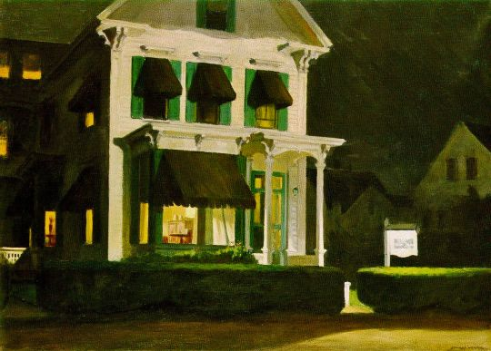 Edward Hopper (1882–1967), Rooms for Tourists, 1945. oil on canvas, 30 x 40 inches