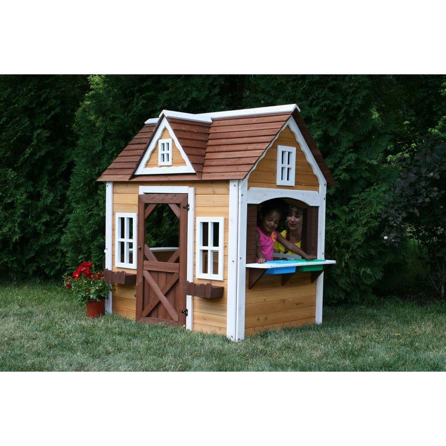 swing n slide wood playhouse kit pb 8277 wood playhouse