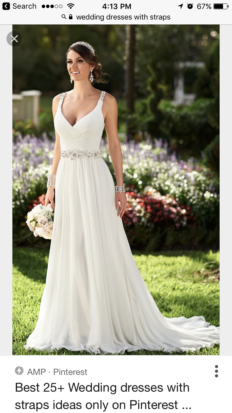 Wedding dress with straps  Pin by Elaine Gizewski on Wedding dresses  Pinterest  Wedding