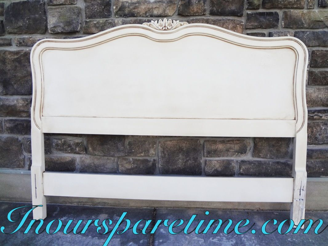Vintage French provincial full size headboard