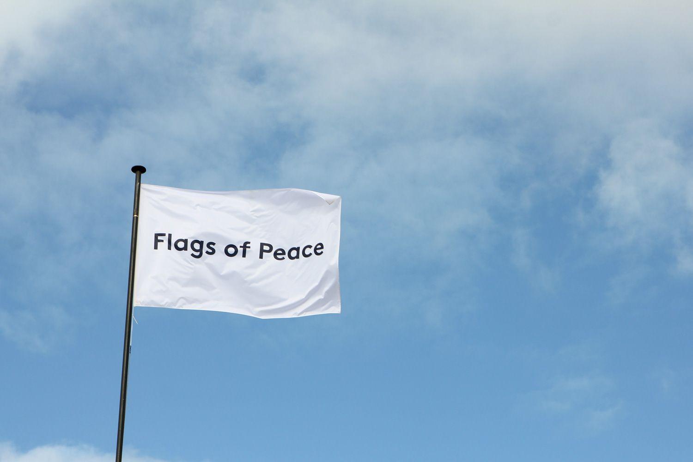 Flags Of Peace Creating An International Visual Dialogue On Peace Peace Flag Flag Peace